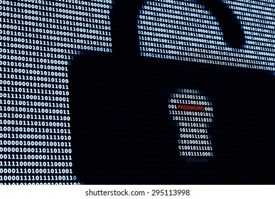 Cyber Protection Lock and Password. A concept of network security in digital world