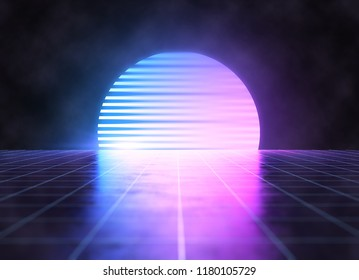 Cyber punk neon background