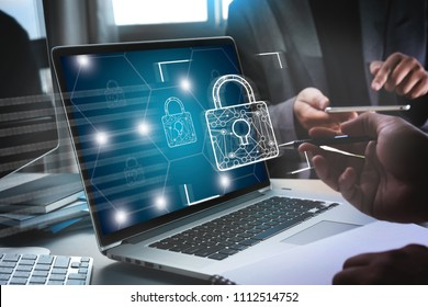 CYBER SECURITY Business Technology Secure Firewall Antivirus Alert Protection Security und Cyber Security Firewall