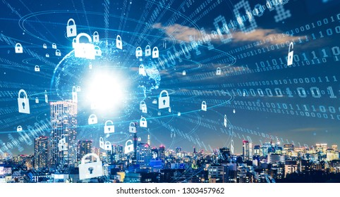 Cyber security concept. Encryption.