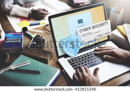 cyber security firewall privacy concept の写真素材 今すぐ編集