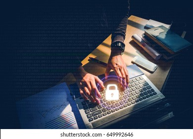 Cyber security job Business, technology, internet and networking concept