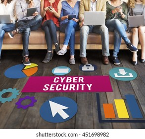 Cyber Security Protection Lock Privacy Concept