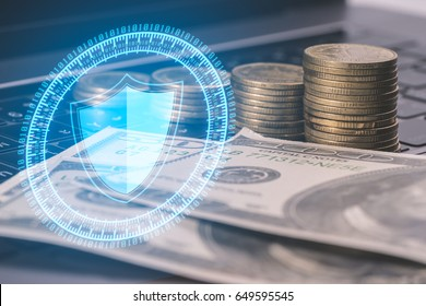 Cyber Security Shield Money protection form cyber crime