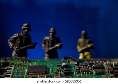cyber terrorism concept computer bomb