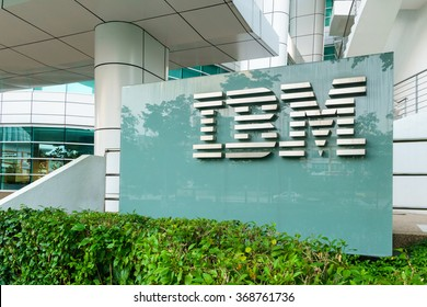 CYBERJAYA, MALAYSIA - JANUARY 29 2016 : IBM Global Delivery Center Signs