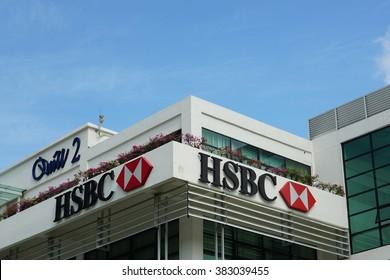 CYBERJAYA, MALAYSIA - JANUARY 29 2016:HSBC Global Service Delivery Electronic Data Processing in Cyberjaya, Selangor Malaysia.