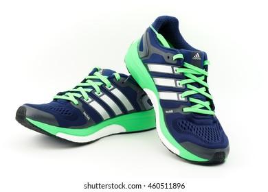 CYBERJAYA, MALAYSIA - JULY 30 2016 : Adidas boost adistar techfit sports  shoes for running