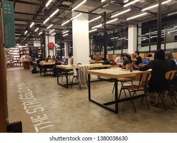 Cyberjaya, Malaysia. November 26, 2018. BookXcess store open at Tamarind Square, Cyberjaya is the biggest bookstore in Malaysia and also the first bookstore opens 24 hours