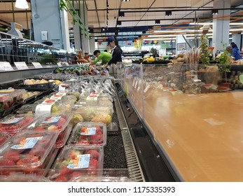 Cyberjaya, Malaysia. September 8, 2018. Village Grocer newly open chain supermarket in Tamarind Square already making a hit by locals and giving more choices to people living in Cyberjaya
