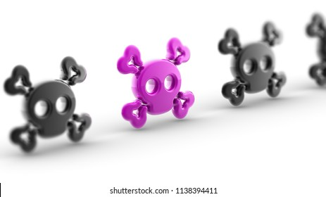 Cybervirus. 3D Illustration.