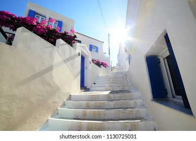 Cyclades architecture of Andros, Tinos, Mykonos, Santorini