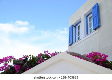 Cyclades architecture of Greece: Andros, Tinos, Mykonos and Santorini island