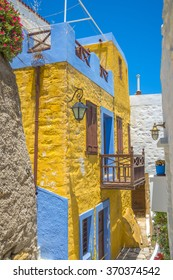 Cycladic architecure, Traditional houses in Mykonos, Greece.