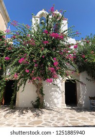 Cycladic church in Parikia on Paros in Greece.