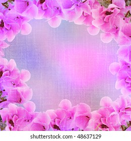 cyclamen -stylized floral frame, canvas, background for your text