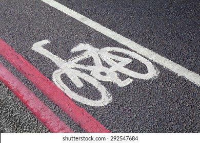 A Cycle Lane in central London.