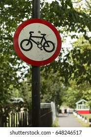Cycle Path Warning Sign