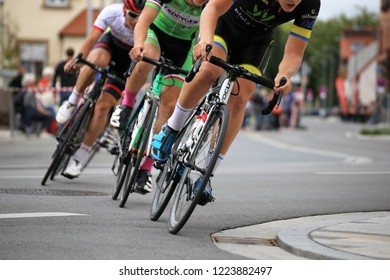 Cycle race, August 27, 2018, Mutterstadt, Rhineland-Palatinate, Germany