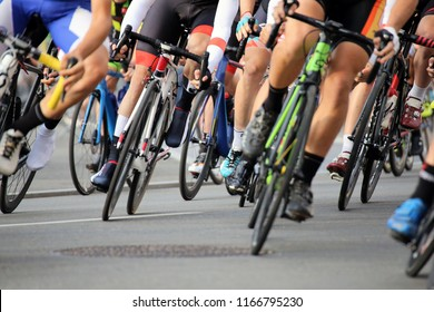 Cycle race, close-up
