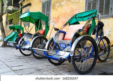 Cycle rickshaw( Cyclo ) in Hoi An, Vietnam