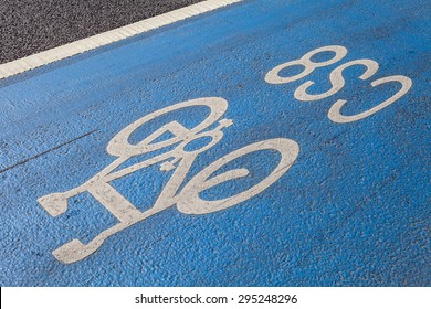 A cycle Superhighway in central London.