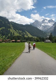 Cycling in the Alps.