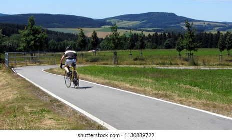cycling in the Erzgebirge