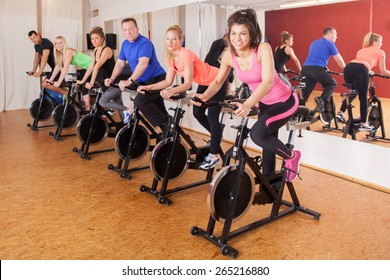 cycling group of fitness people
