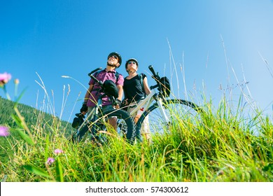Cycling Senior Couple