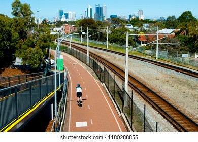 Cycling Track to the City - Perth - Australia