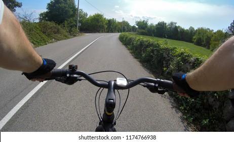 Cycling trough island of Krk, Croatia