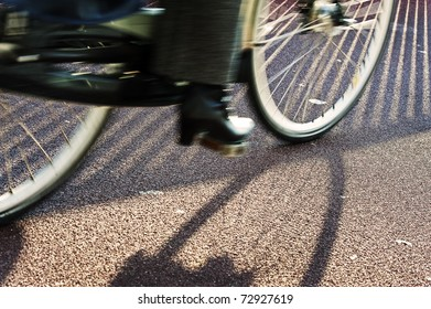 Cyclist in action