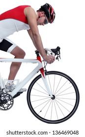 cyclist with bike