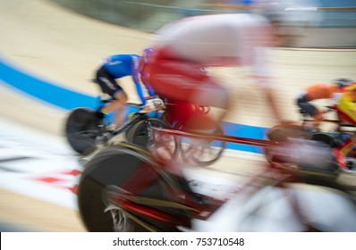 cyclist, cycling track, velodrome - abstract