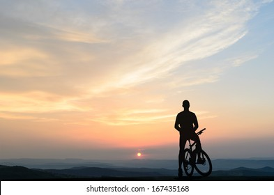 cyclist in the morning