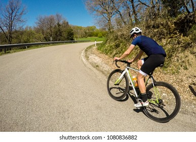 Cyclist ride a road bike in a summer season