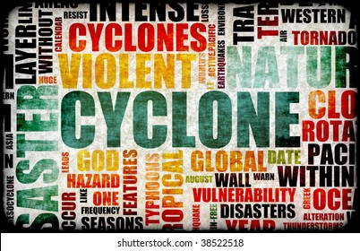 Cyclone Natural Disaster as a Art Background