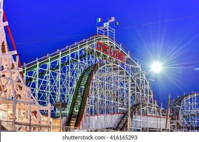 Cyclone Rollercoaster in Coney Island, Brooklyn, New York City.