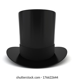 Cylinder hat. 3d illustration on white background