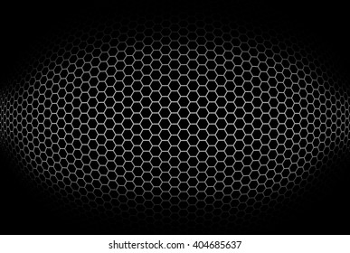 Cylindrical background with octagonal grid. Illustration.