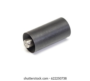 Cylindrical metal punch.