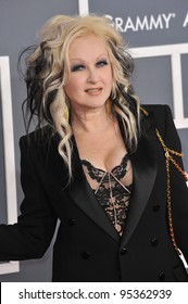 Cyndi Lauper at the 54th Annual Grammy Awards at the Staples Centre, Los Angeles. February 12, 2012  Los Angeles, CA Picture: Paul Smith / Featureflash