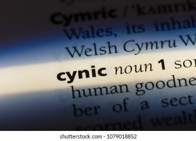 cynic word in a dictionary. cynic concept