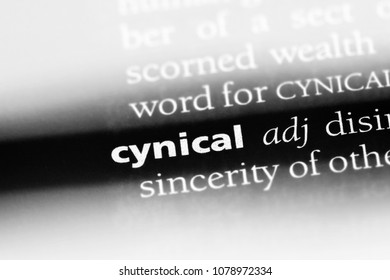 cynical word in a dictionary. cynical concept