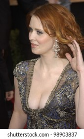 CYNTHIA NIXON at the 10th Annual Screen Actors Guild Awards in Los Angeles. February 22, 2004