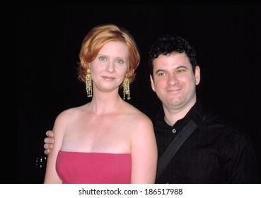 Cynthia Nixon and Danny Moses at premiere of SEX & THE CITY, NY 7/16/2002