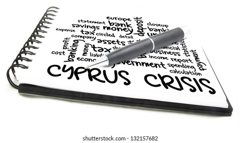 cyprus crisis word cloud on notes