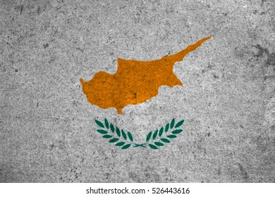 cyprus flag on an old grunge background
