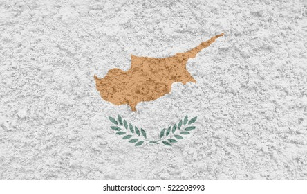 Cyprus Flag painted on concrete